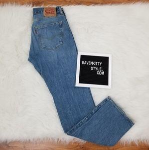 Levis 501 Buttonfly Bootcut Denim Jeans 31x 32